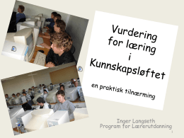 Inger Langseth Program for Lærerutdanning 1