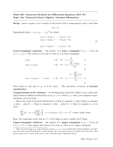 Math 405: Numerical Methods for Differential Equations 2015 W1