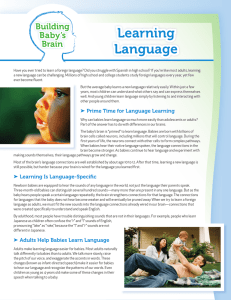 Learning Language