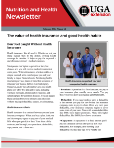 Newsletter Nutrition and Health