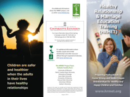 Healthy Relationship & Marriage Education