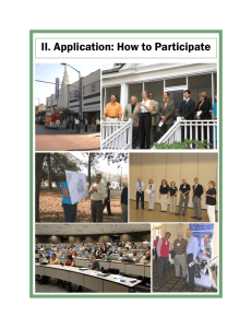 II. Application: How to Participate