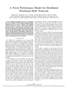 A Novel Performance Model for Distributed Prioritized MAC Protocols Xinhua Ling