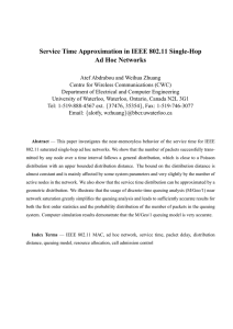Service Time Approximation in IEEE 802.11 Single-Hop Ad Hoc Networks