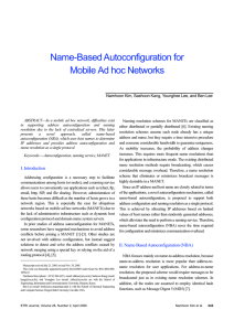 Name-Based Autoconfiguration for Mobile Ad hoc Networks