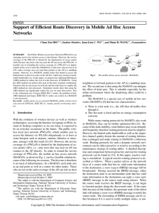 Support of E Networks cient Route Discovery in Mobile Ad Hoc Access PAPER