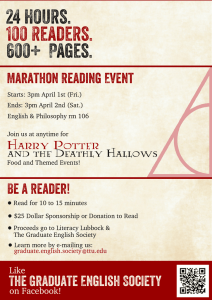 24 Hours. 600+ Pages. 100 Readers. Marathon Reading Event