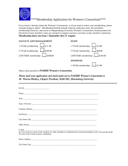 ****Membership Application for Women's Consortium****