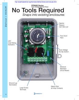 Multi Voltage Defrost Timer 40 The First And Only