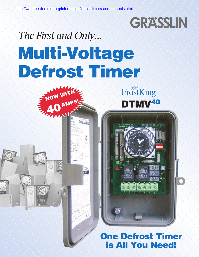 Multi Voltage Defrost Timer 40 The First And Only 8141 20 Wiring Diagram