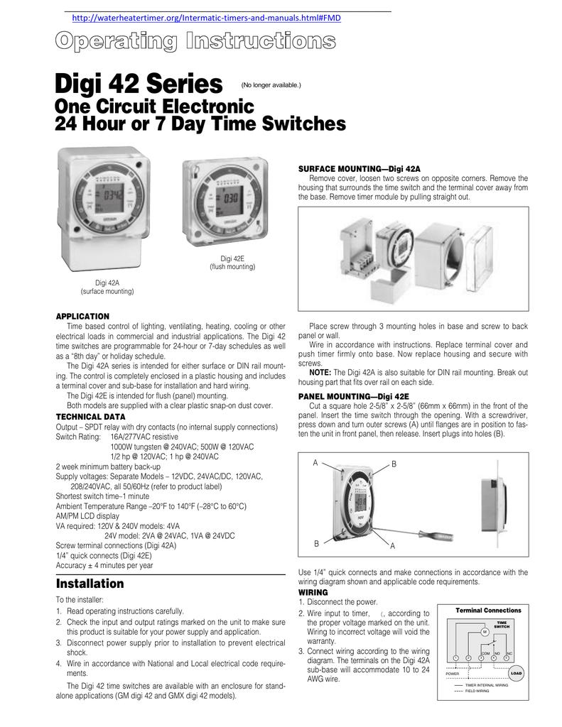 Digi 42 Series One Circuit Electronic 10 Awg Wiring Diagram