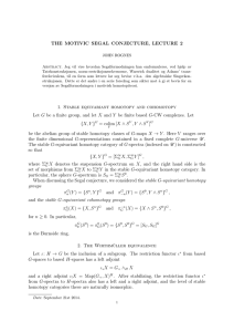 THE MOTIVIC SEGAL CONJECTURE, LECTURE 2