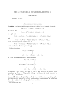 THE MOTIVIC SEGAL CONJECTURE, LECTURE 5 1. Some bicomodule algebras A