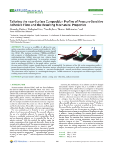Tailoring the near-Surface Composition Profiles of Pressure-Sensitive