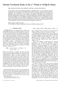 ¢¢ Phase in Al-Mg-Si Alloys Density Functional Study of the b