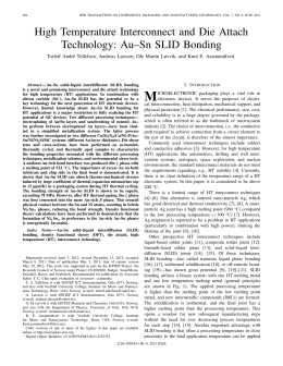 High Temperature Interconnect and Die Attach Technology: Au–Sn SLID Bonding