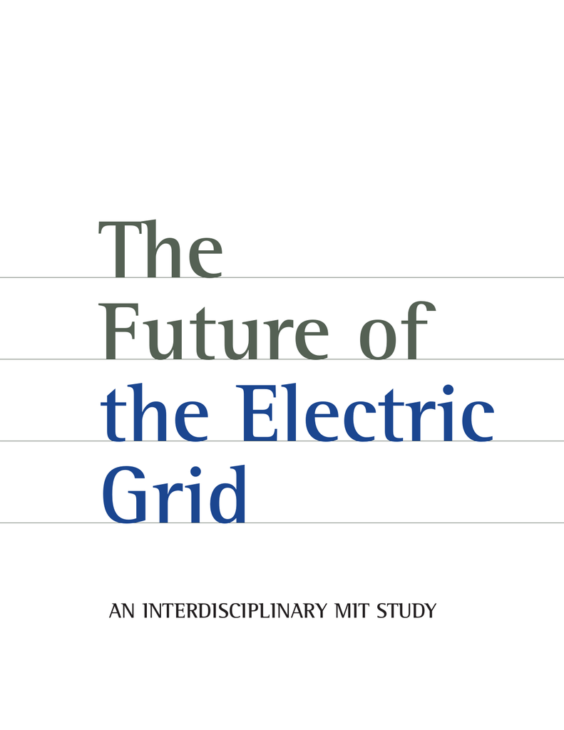 The Future of the Electric Grid