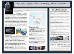 Future Science Opportunities in Antarctica and the Southern Ocean RECOMMENDATIONS