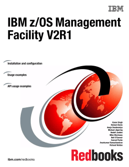 IBM z/OS Management Facility V2R1 Front cover Installation and configuration