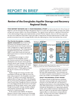 Review of the Everglades Aquifer Storage and Recovery Regional Study