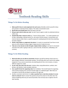 Textbook Reading Skills Things To Do Before Reading