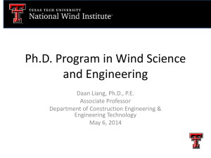 Ph.D. Program in Wind Science and Engineering