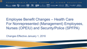 Employee Benefit Changes – Health Care For Nonrepresented (Management) Employees,