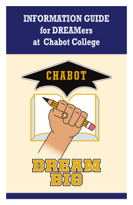 INFORMATION GUIDE for DREAMers at  Chabot College