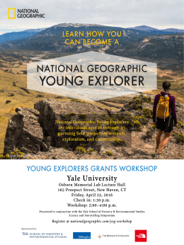 YOUNG EXPLORER NATIONAL GEOGRAPHIC LEARN HOW YOU CAN BECOME A