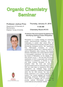 Professor Joshua Price Thursday, January 21, 2016 11:00 AM Chemistry Room #1315