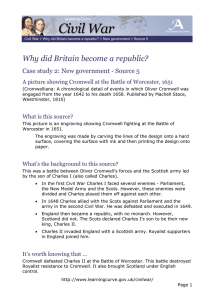 Why did Britain become a republic?