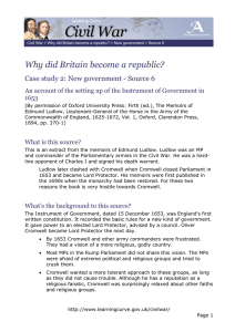 Why did Britain become a republic? 1653