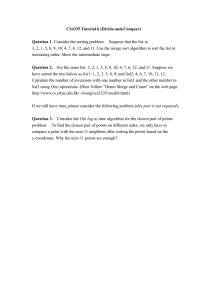 CS4335 Tutorial 6 (Divide-and-Conquer)  Question 1