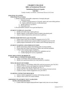 CHABOT COLLEGE Office of Institutional Research Institutional Research Agenda Fall 2012