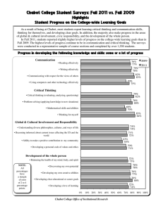 Chabot College Student Surveys: Fall 2011 vs. Fall 2009 Highlights