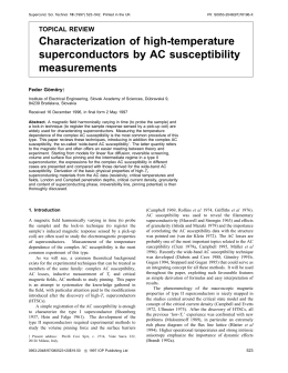Characterization of high-temperature superconductors by AC susceptibility measurements TOPICAL REVIEW