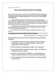 How to Develop Good Service Projects
