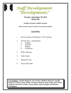 AGENDA Tuesday, September 20, 2011 Room 505