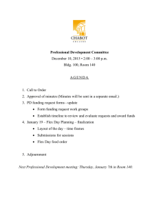 Professional Development Committee December 10, 2015 • 2:00 – 3:00 p.m.
