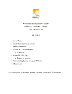 Professional Development Committee October 22, 2015 • 2:00 – 3:00 p.m.