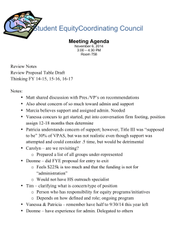 Student EquityCoordinating Council Meeting Agenda