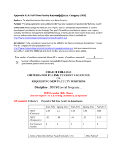 Appendix F1A: Full-Time Faculty Request(s) [Acct. Category 1000]