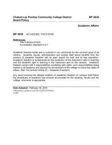Chabot-Las Positas Community College District BP 4030 Board Policy Academic Affairs