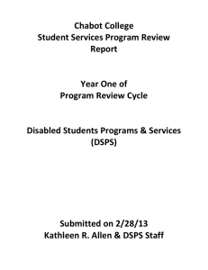 Chabot College Student Services Program Review Report