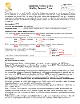 Classified Professionals Staffing Request Form