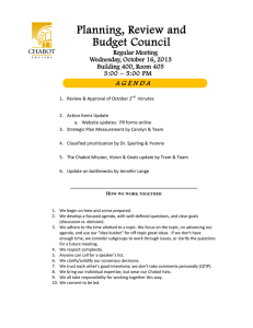Planning, Review and Budget Council A G E N D A Regular Meeting