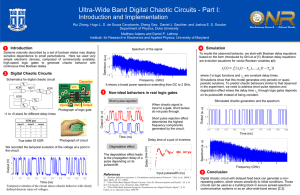 Ultra-Wide Band Digital Chaotic Circuits - Part I: Introduction and Implementation