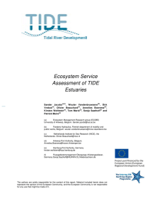 Ecosystem Service Assessment of TIDE Estuaries