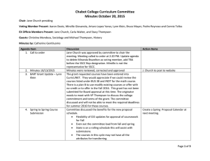 Chabot College Curriculum Committee Minutes October 20, 2015
