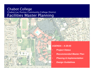 Facilities Master Planning Chabot College Chabot-Las Positas Community College District AGENDA  4-28-05